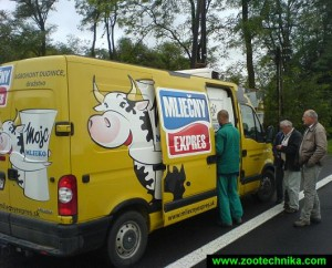 Mobile milk vending in Slovakia